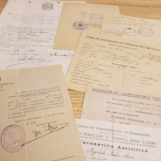 Militaria: LOTE DE DOCUMENTOS, PRISIONERO DE GUERRA DE ALCOY, ALICANTE. Lote 122045872