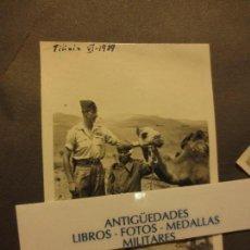 Militaria: OFICIAL Y SOLDADO CON CAMELLO PROTECTORADO ESPAÑOL TILIUIN VI -1939 POST GUERRA CIVIL . Lote 122049031