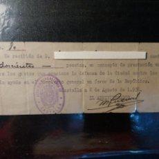 Militaria: CASTALLA ALICANTE GUERRA CIVIL 1936.. Lote 122999430