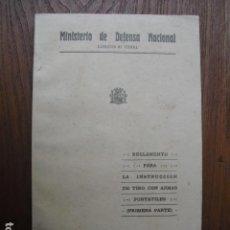 Militaria: 1937 INSTRUCCION DE TIRO CON ARMAS PORTATILES PRIMERA PARTE EJERCITO REPUBLICANO. Lote 124123599