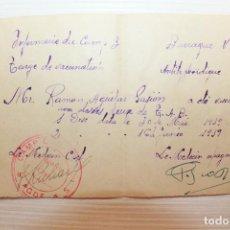 Militaria: TARJETA DE VACUNACIÓN, CAMPO DE CONCENTRACIÓN, FRANCIA, 1939. Lote 124395479
