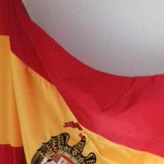 Militaria: BANDERA DE ESPAÑA BORDADA ÁGUILA SAN JUAN. Lote 124495495