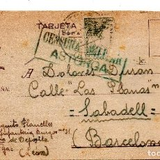 Militaria: VIVA ESPAÑA REGIMIENTO INFANTERIA BURGOS 31 1º CIA DE DEPOSITO-ASTORGA.CENSURA MILITAR 19 -2- 1939. Lote 124563771