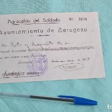Militaria: DONATIVO DE AGUINALDO DEL SOLDADO. 1937 ZARAGOZA..50 PESETAS.. Lote 124784483