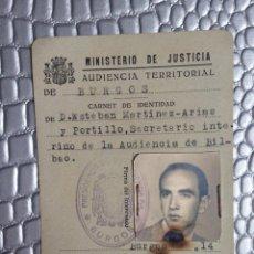 Militaria: MINISTERIOR DE JUSTICA REPUBLICA AUDIENCIA BILBAO AÑO 1934 . Lote 125192495