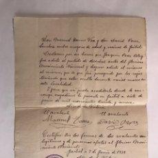 Militaria: GUERRA CIVIL. GAIBIEL (CASTELLÓN) 7 JUNIO DE 1939. Lote 125351840