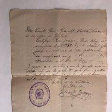Militaria: GUERRA CIVIL. GAIBIEL (CASTELLÓN) 13 JULIO DE 1939. Lote 125351903