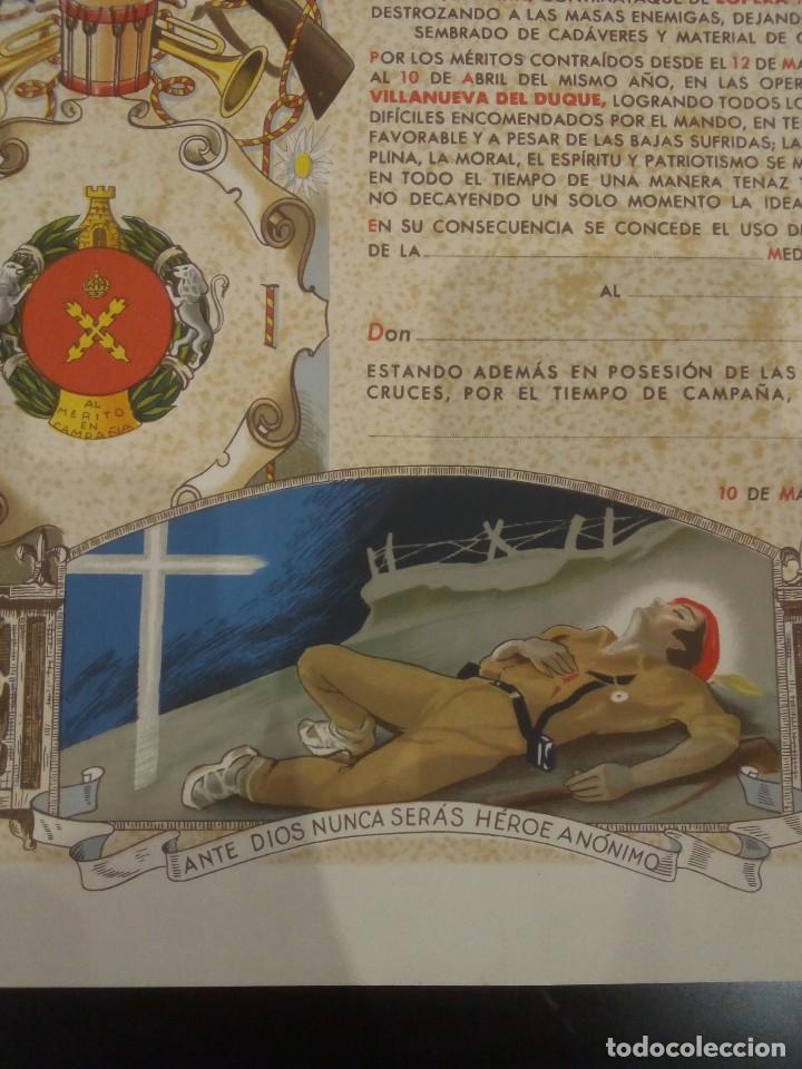 Militaria: DIPLOMA DE LA CONCESIÓN DE DOS MEDALLAS COLECTIVAS AL TERCIO REQUETÉ NTRA. SRA. DE LA MERCED - Foto 8 - 165017765