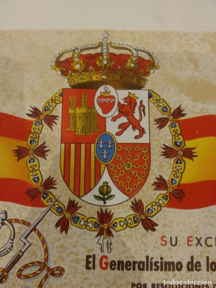 Militaria: DIPLOMA DE LA CONCESIÓN DE DOS MEDALLAS COLECTIVAS AL TERCIO REQUETÉ NTRA. SRA. DE LA MERCED - Foto 9 - 165017765