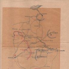 Militaria: MOVIMIENTOS DE TROPAS- PLANO Y CROQUIS Nº 1.- BILBAO-BURGOS-VITORIA, MIDE:28X23 C.M.VER FOTOS. Lote 126811003