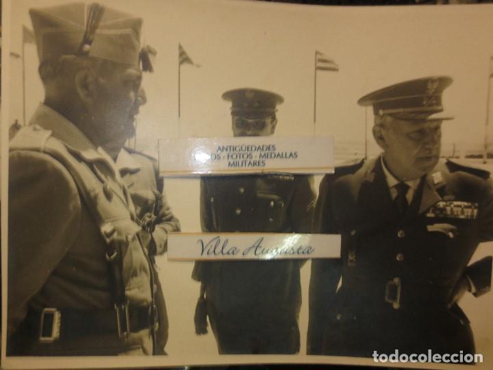 Militaria: COLOQUIO ALTOS MANDOS FOTO INEDITA LEGION POST GUERRA CIVIL GUERRA CIVIL - Foto 2 - 127276959