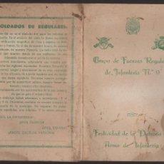 Militaria: GRUPO DE FUERZAS REGULARES DE INFANTERIA Nº 9, TRIPTICO, VER FOTOS. Lote 127552475