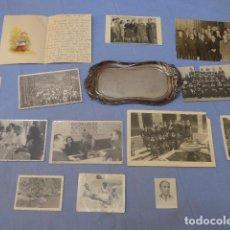 Militaria: * LOTE DEL GENERAL VIERNA, BANDEJA DE PLATA Y FOTOGRAFIAS DE FAMILIA. DIVISION AZUL. ZX. Lote 128366523