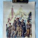 Militaria: CALENDARIO DE PARED FALANGISTA COMPLETO. ESPAÑA. 1938.. Lote 128551471