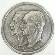 Militaria: PLACA CONMEMORATIVA DE ALFONSO CARLOS I Y JAVIER I. SIGLO XX. . Lote 128597115