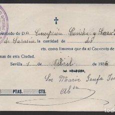 Militaria: POBRES CAPUCHINOS, LIMOSNA, 1936, VER FOTO. Lote 128774875