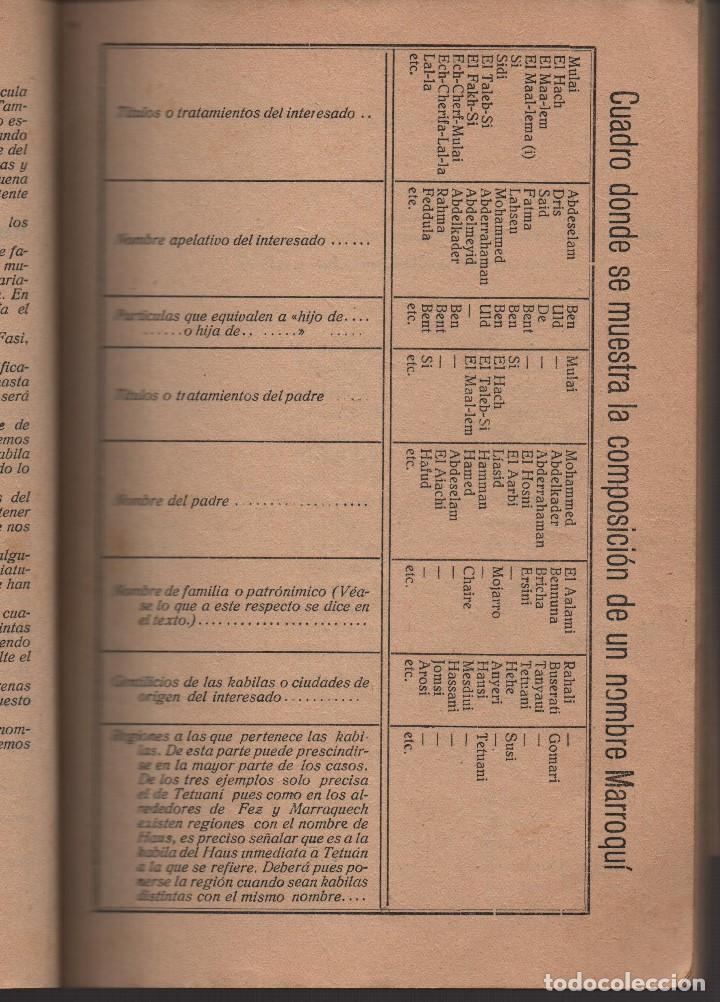 Militaria: MARRUECOS, ALTA COMISARIA, HABITANTES,NOMBRE Y PLANOS, AÑO 1937, 174 PAGINAS, VER FOTOS - Foto 4 - 128777179