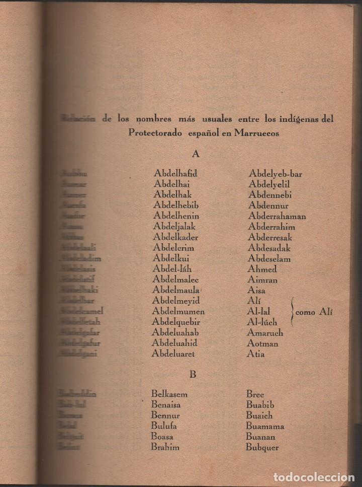 Militaria: MARRUECOS, ALTA COMISARIA, HABITANTES,NOMBRE Y PLANOS, AÑO 1937, 174 PAGINAS, VER FOTOS - Foto 5 - 128777179