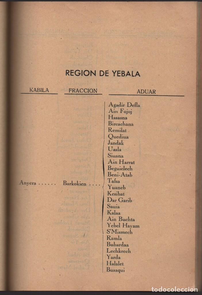 Militaria: MARRUECOS, ALTA COMISARIA, HABITANTES,NOMBRE Y PLANOS, AÑO 1937, 174 PAGINAS, VER FOTOS - Foto 8 - 128777179