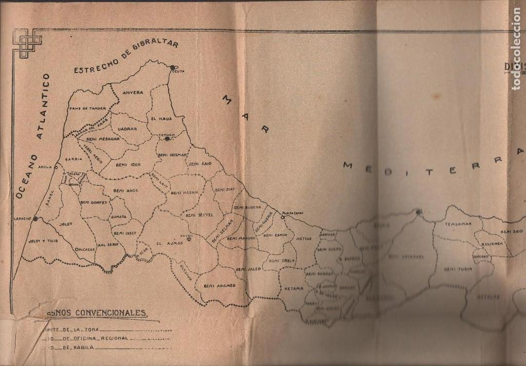 Militaria: MARRUECOS, ALTA COMISARIA, HABITANTES,NOMBRE Y PLANOS, AÑO 1937, 174 PAGINAS, VER FOTOS - Foto 10 - 128777179