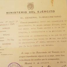 Militaria: GUERRA CIVIL PASAPORTE SALVOCONDUCTO COMANDANTE MADRID 1940. Lote 129140098