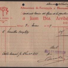 Militaria: MALAGA, S.U.R.C. FERRETERIA - EL LLAVIN- AÑO 1937, VER FOTO. Lote 129560543