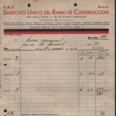 Militaria: MALAGA, C.N.T. A.I.T. S.U.,R.C. RELACION SALARIOS, AÑO 1936, VER FOTO. Lote 129560859