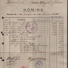 Militaria: MALAGA, C.N.T .A.I.T.-NOMINA-COMITE EMPRESA DEL BANCO DE ESPAÑA,-CONTROL OBRERO, AÑO 1936, VER FOTOS. Lote 129561211