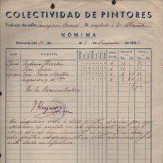 Militaria: MALAGA, C.N.T A.I.T. S.U.R.C. -COLECTIVO DE PINTORES- AÑO 1936, VER FOTO. Lote 129561291