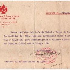 Militaria: MADRID, S.R.I. COMITE PROVINCIAL. TIPO II. SEPTIEMBRE 1937, VER FOTO. Lote 130551634