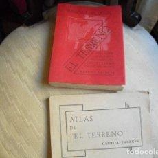 Militaria: 1938 EL TERRENO COMANDANTE DE ASALTO TORRENS TEXTO Y ATLAS FORTIFICACION, ENMASCARAMIENTO. Lote 178861363