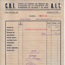 Militaria: VALENCIA, C.N.T. A.I.T. SINDICATO DEL TRANSPORTE Y SU RADIO, 19 DICIEMBRE 1936, VER FOTO . Lote 131617282