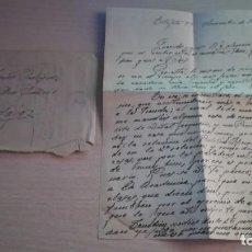 Militaria: CARTA, EPOCA GUERRA CIVIL DE UNA FAMILIA DE BADAJOZ, AÑO 1938. Lote 131632610