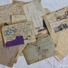 Militaria: CORRESPONDENCIA ENTRE 2 PERSONAS -CAMPO DE CONCENTRACION (FRANCIA)Y BARCELONA-1939. Lote 131978318