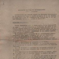 Militaria: MADRID, DIVISION AZUL, INSTRUCCIONES PARA ORGANIZACION DE PAGOS, JOSE. A. GIRON- FEBRERO 1943, VER F. Lote 132067354