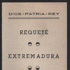 Militaria: EXTREMADURA, REQUETE- DIOS - PATRIA - REY, NUEVO, VER FOTOS. Lote 132552002