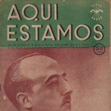 Militaria: PALMA DE MALLORCA, F.E. -AQUI ESTAMOS- MAYO 1939, COMPLETO MUY BUEN ESTADO, VER FOTOS. Lote 132604330