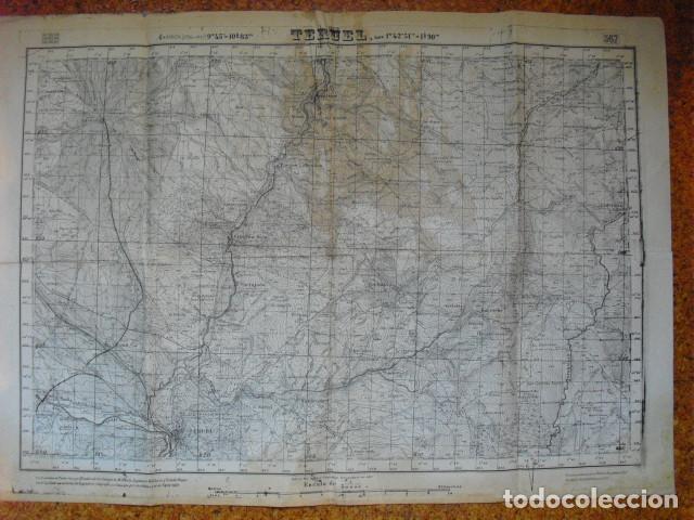 MAPA DE TERUEL DEL EJERCITO NACIONAL (Militar - Guerra Civil Española)