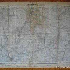Militaria: MAPA DE TERUEL DEL EJERCITO NACIONAL. Lote 133097766