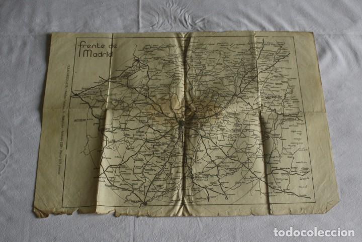 MAPA DEL FRENTE DE MADRID - I - GUERRA CIVIL (Militar - Guerra Civil Española)