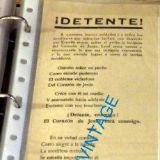 Militaria: SEVILLA, 1936, GUERRA CIVIL, RARISIMO CARTEL , DETENTE, VIVA ESPAÑA, 105X305MM. Lote 133850174