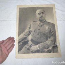 Militaria: ANTIGUO CARTEL DE GENERAL FRANCISCO FRANCO, GUERRA CIVIL, ORIGINAL.. Lote 133951270
