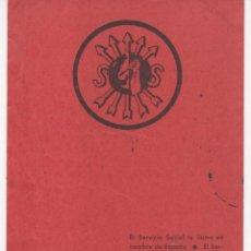 Militaria: TARJETA QUE LLAMA A LAS MUJERES AL SERVICIO SOCIAL. CON CENSURA CIVIL.JAÉN 1939 . Lote 134289222