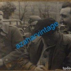 Militaria: BENASQUE,HUESCA,1938,GUERRA CIVIL,EL TENIENTE CORONEL CARLISTA GARCIA POLO, 150X115MM,FOT.CAMPUA. Lote 134310370