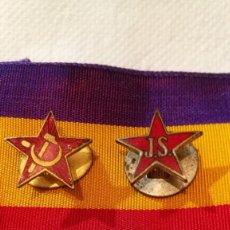 Militaria: 2 DISTINTIVOS DE JUVENTUDES SOCIALISTAS. Lote 134349574