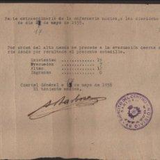 Militaria: EJERCITO DEL CENTRO, 46 DIVISION, EVACUACION DE ENFERMERIA, AÑO 1938, VER FOTO. Lote 136324294