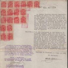 Militaria: SANTIAGO DE CALATRAVA,FIRMA:D.CARLOS IGLESIAS ALOSETE, COMISARIO DELG. DE GUERRA, AFILIA. P.C Y.C.N.. Lote 136447602