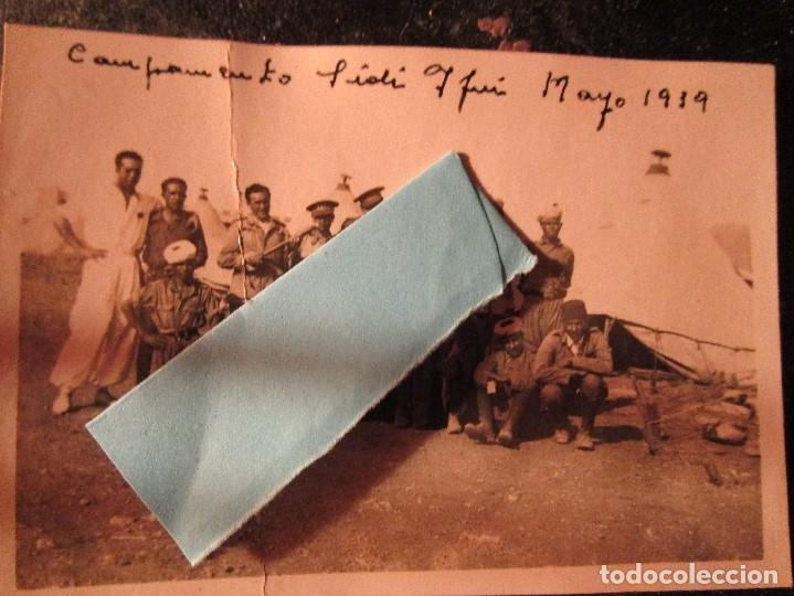 MELILLA CAMPAMENTO MANDOS Y REGULARES COMBATIENTES GUERRA CIVIL LEGION SIDI IFNI V 1939 (Militar - Guerra Civil Española)