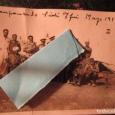 Militaria: MELILLA CAMPAMENTO MANDOS Y REGULARES COMBATIENTES GUERRA CIVIL LEGION SIDI IFNI V 1939. Lote 136750974