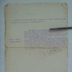 Militaria: GUERRA CIVIL - MILICIAS FALANGE TRIGUEROS: CERTIFICADO DE SERVICIO COMBATIENTE REQUETE HUELVA. 1939. Lote 137217350
